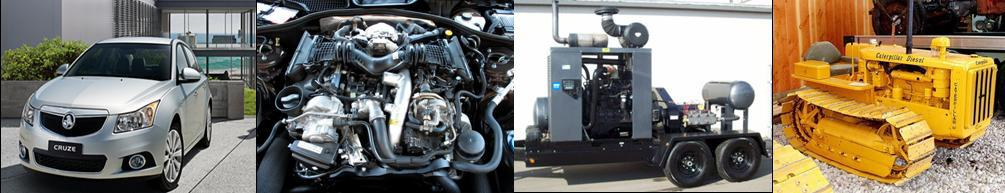Montage of diesel engine vehicles and apparatus in Canterbury servicing MDS Diesel Specialists (2013) Limited