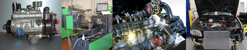 Collage of  turbo repairs, injector rebuilds for diesel engines in Canterbury