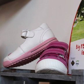 white and pink shoe