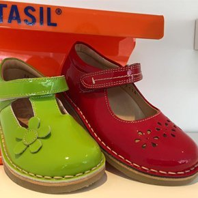 green and red shoe