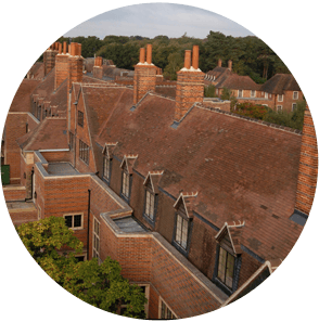 Clay tiles on a flat conversion