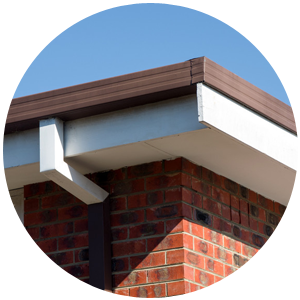 New square guttering with a white fascia