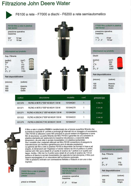 Filtrazione John Deere Water