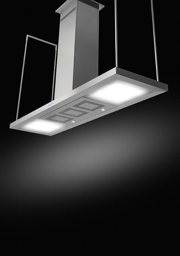 aspiratore moderno da cucina con luci