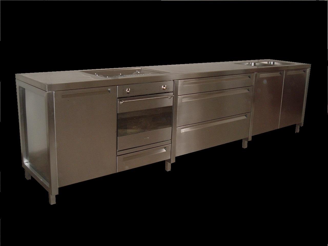 banco da cucina in inox