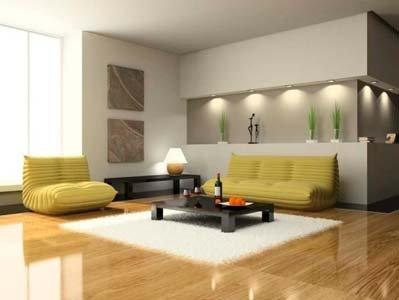 living room con due divani e tavolo basso