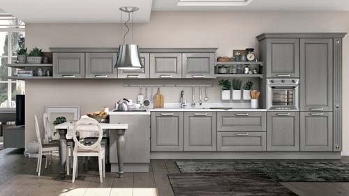 cucina in legno grigio