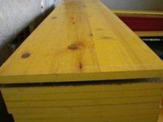 pannello legno giallo
