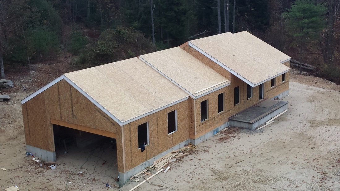 partially completed home built with structural insulated panels - SIP Building Solutions - Westport, Fairfield, Stamford, Greenwich, Danbury CT