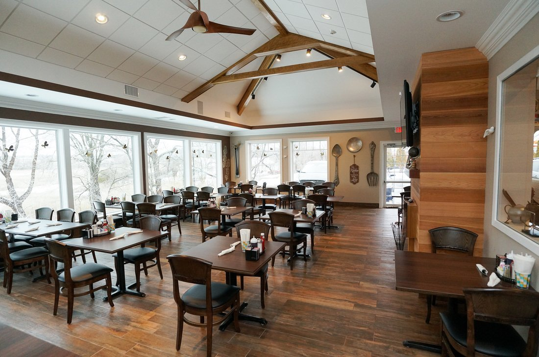interior of restaurant built with structural insulated panels - SIP Building Solutions - Westport, Fairfield, Stamford, Greenwich, Danbury CT