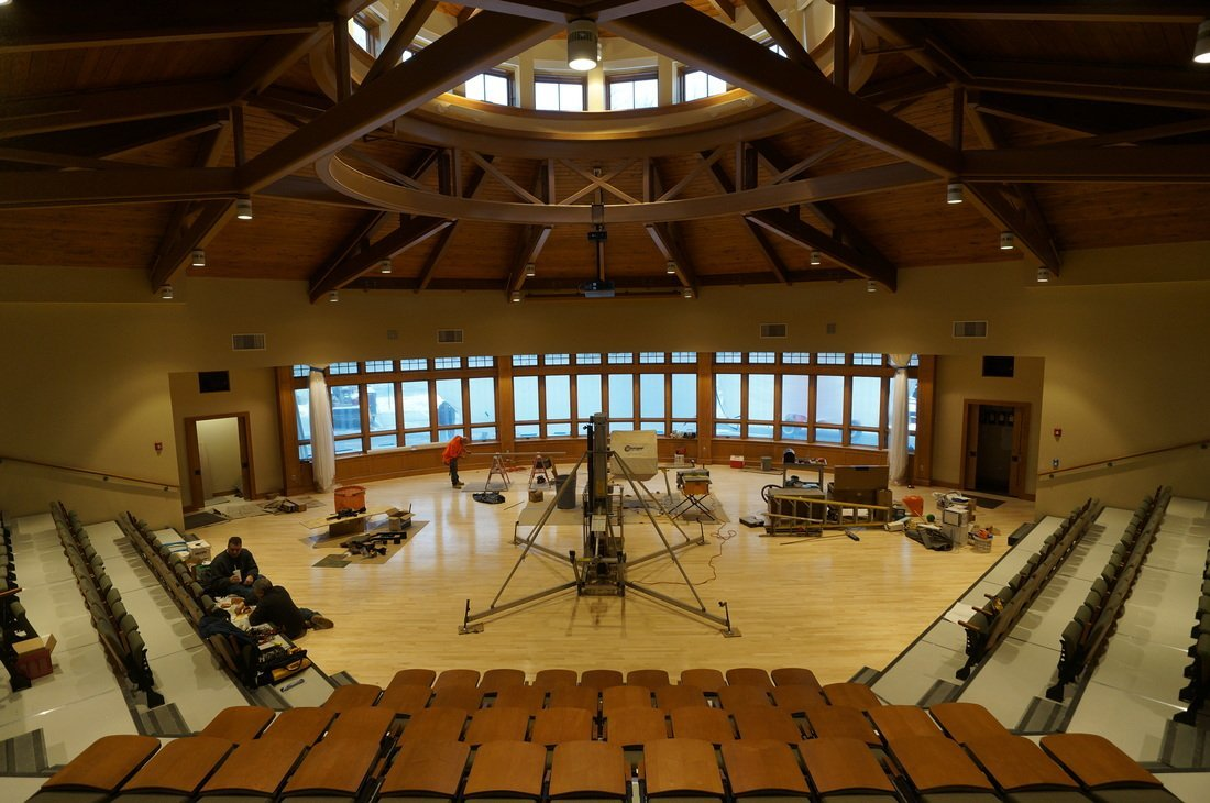 interior of auditorium built with structural insulated panels -SIP Building Solutions - Westport, Fairfield, Stamford, Greenwich, Danbury CT