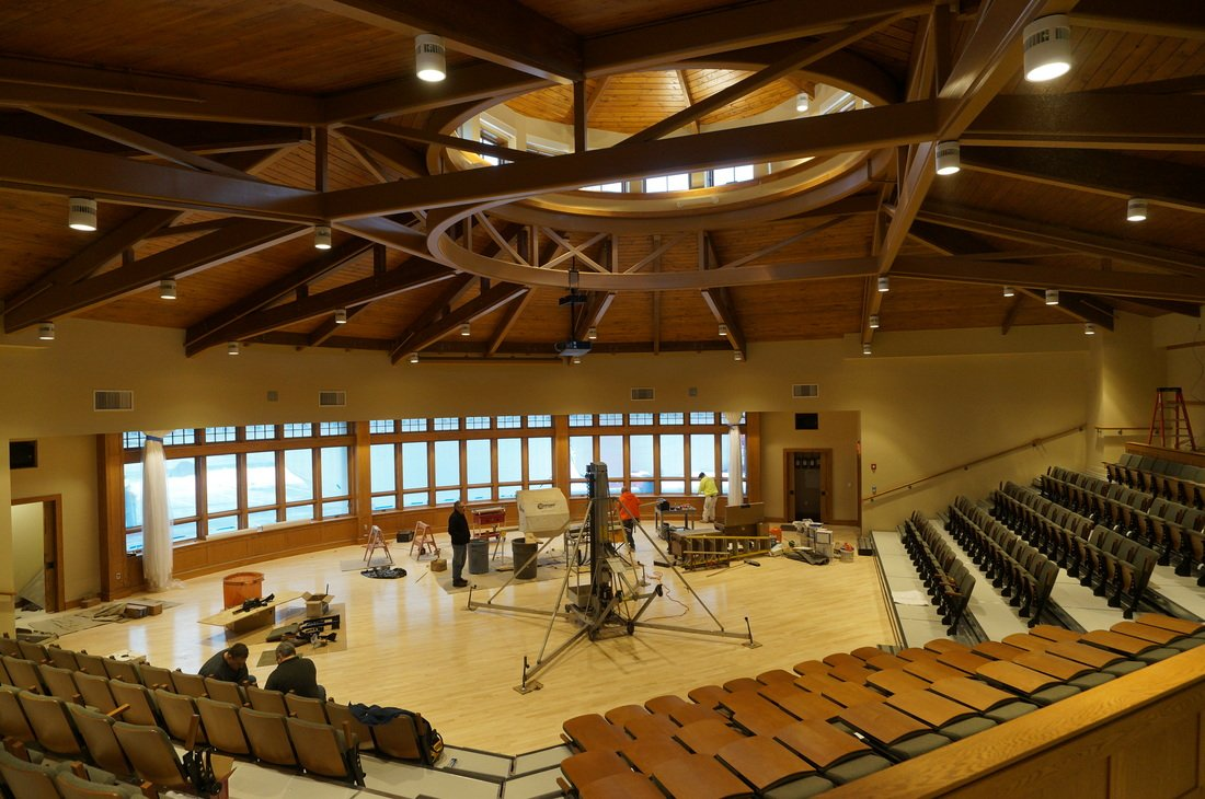 auditorium built with structural insulated panels - SIP Building Solutions - Westport, Fairfield, Stamford, Greenwich, Danbury CT