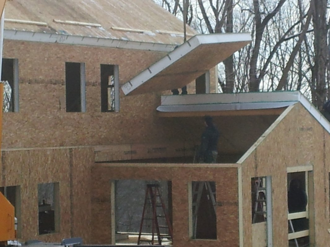roof construction with structural insulated panels - SIP Building Solutions - Westport, Fairfield, Stamford, Greenwich, Danbury CT