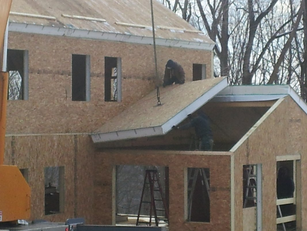 roof constructed with structural insulated panels - SIP Building Solutions - Westport, Fairfield, Stamford, Greenwich, Danbury CT