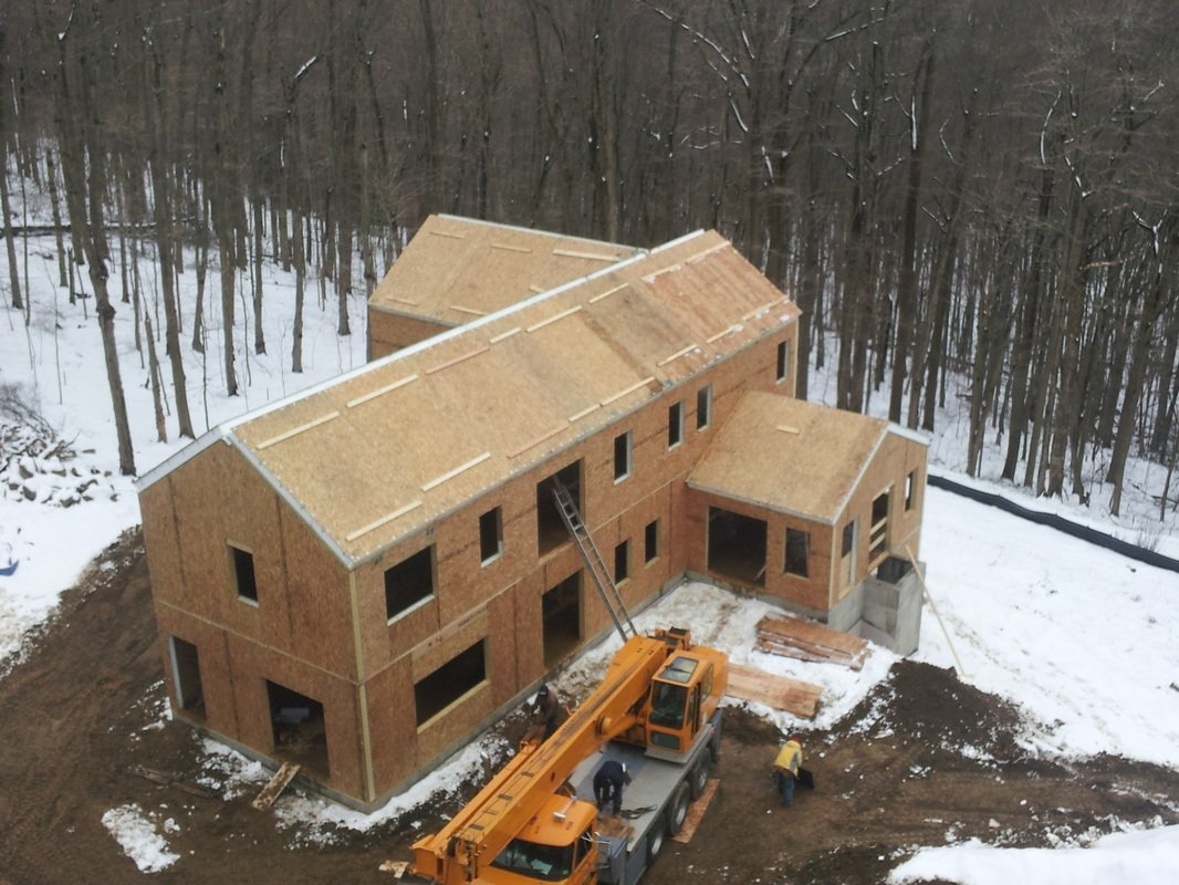 building built with structural insulated panels - SIP Building Solutions - Westport, Fairfield, Stamford, Greenwich, Danbury CT