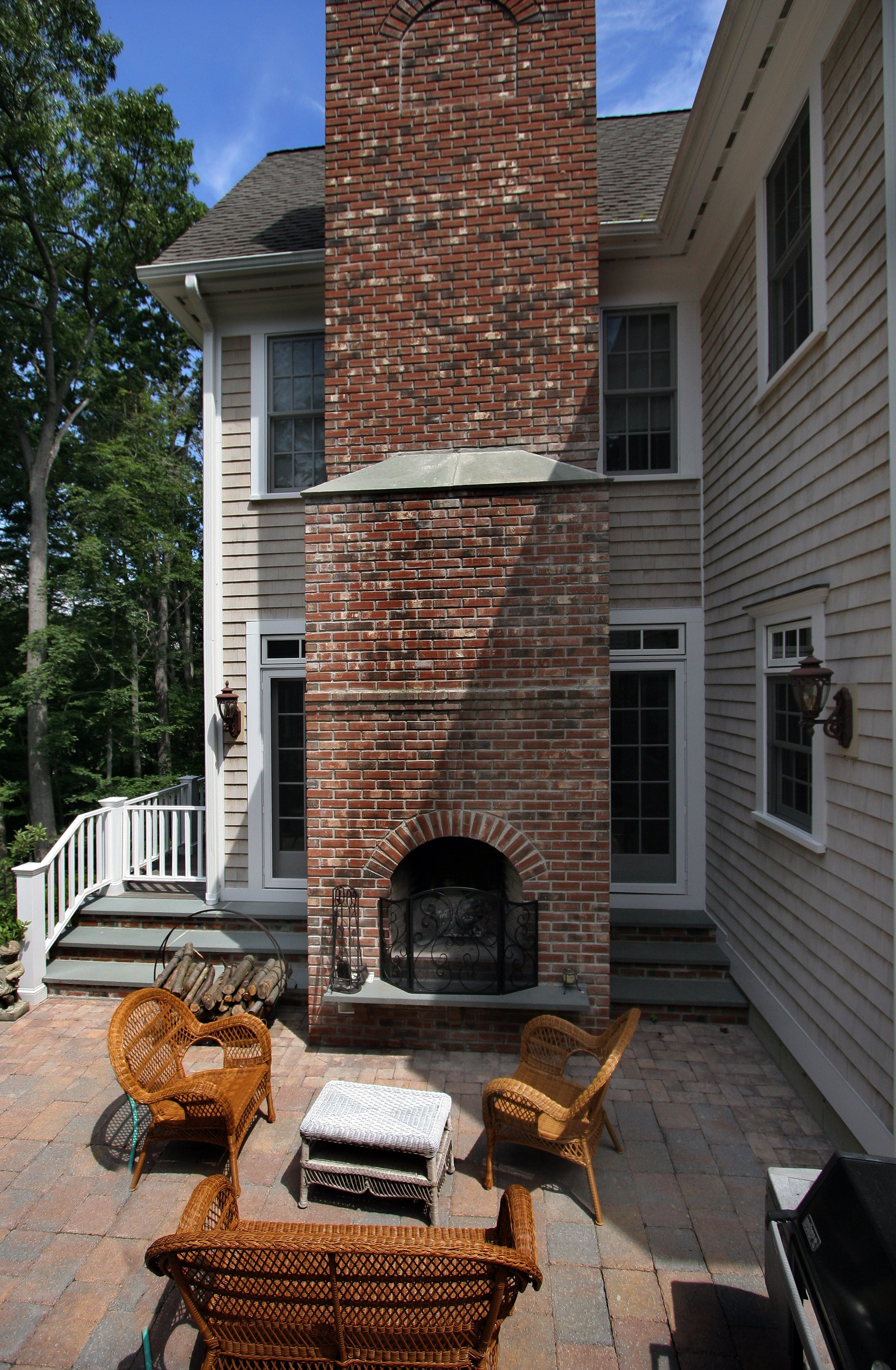 general contractor, outdoor fireplace built by SIP Building Solutions - Westport, Fairfield, Stamford, Greenwich, Danbury CT