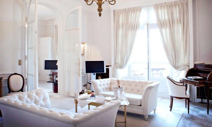 white themed living room