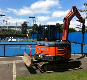 allstate screw piling melbourne tennis centre light towers