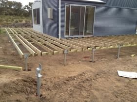 allstate screw piling decking