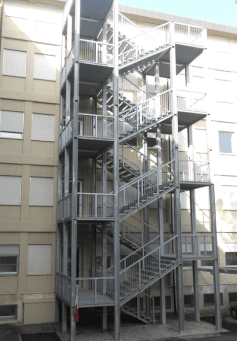 scale in ferro per evacuazione, scale in ferro per esterno, scale di emergenza