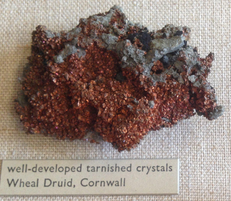Copper from Wheal Druid, Carn Brea.