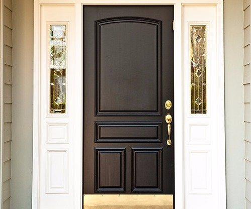 Professional installed black entry door in Wisconsin Rapids, WI