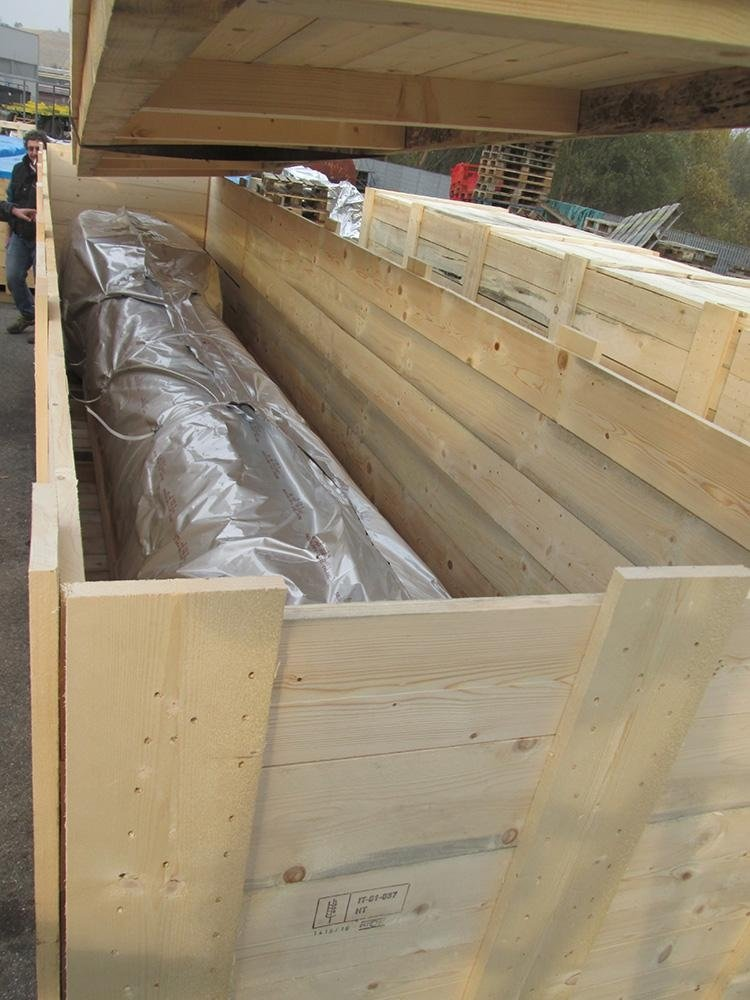 Preparazione cassa per il materiale verniciato