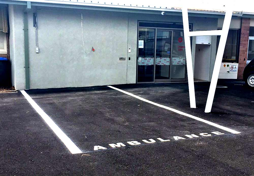 painted parking stall