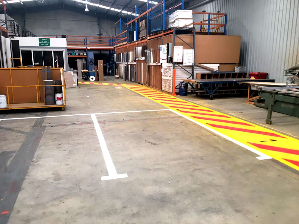 industrial line painting