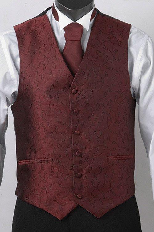 Maroon loop vest