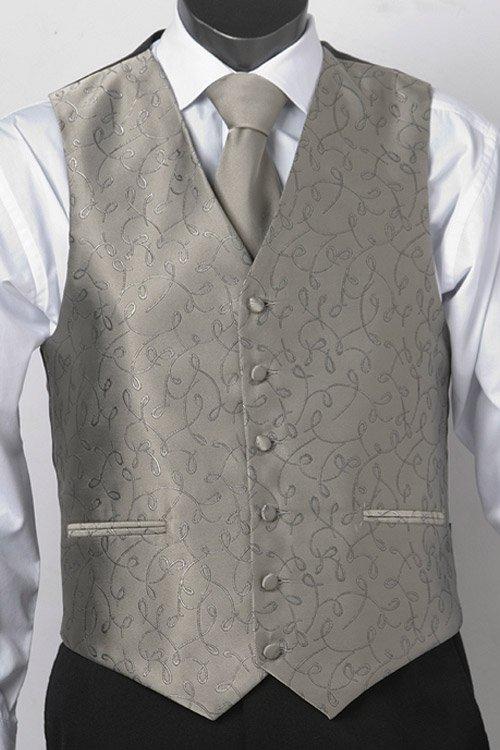 Pewter loop vest