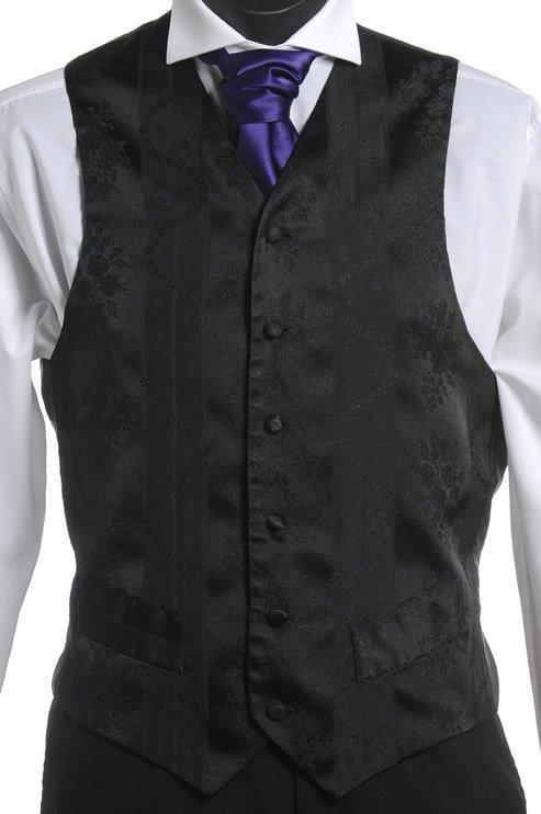 Black embossed vest