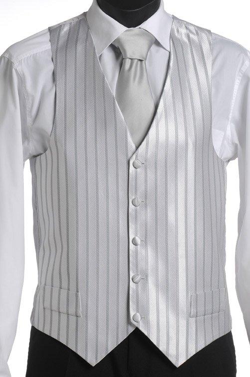 Silver stripe vest