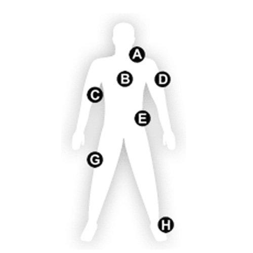 Man full length Outlined template figure