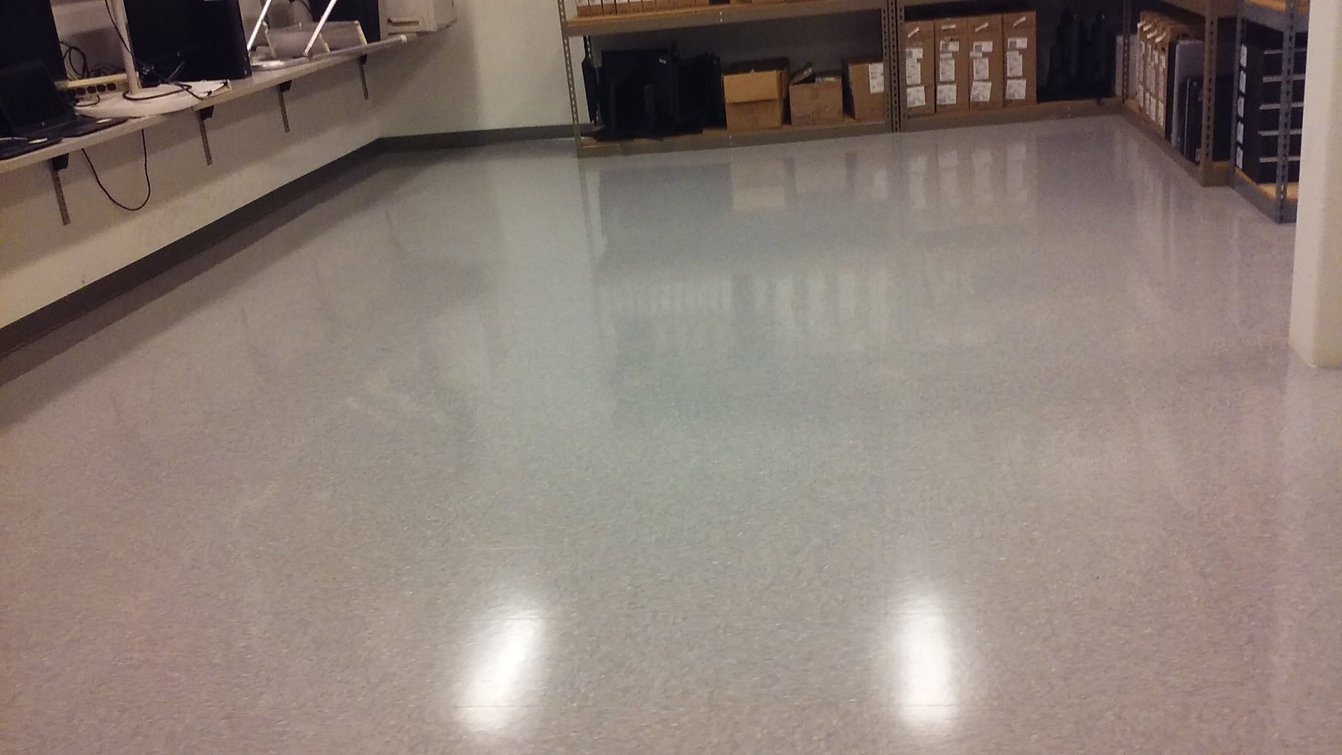 After floor cleaning task