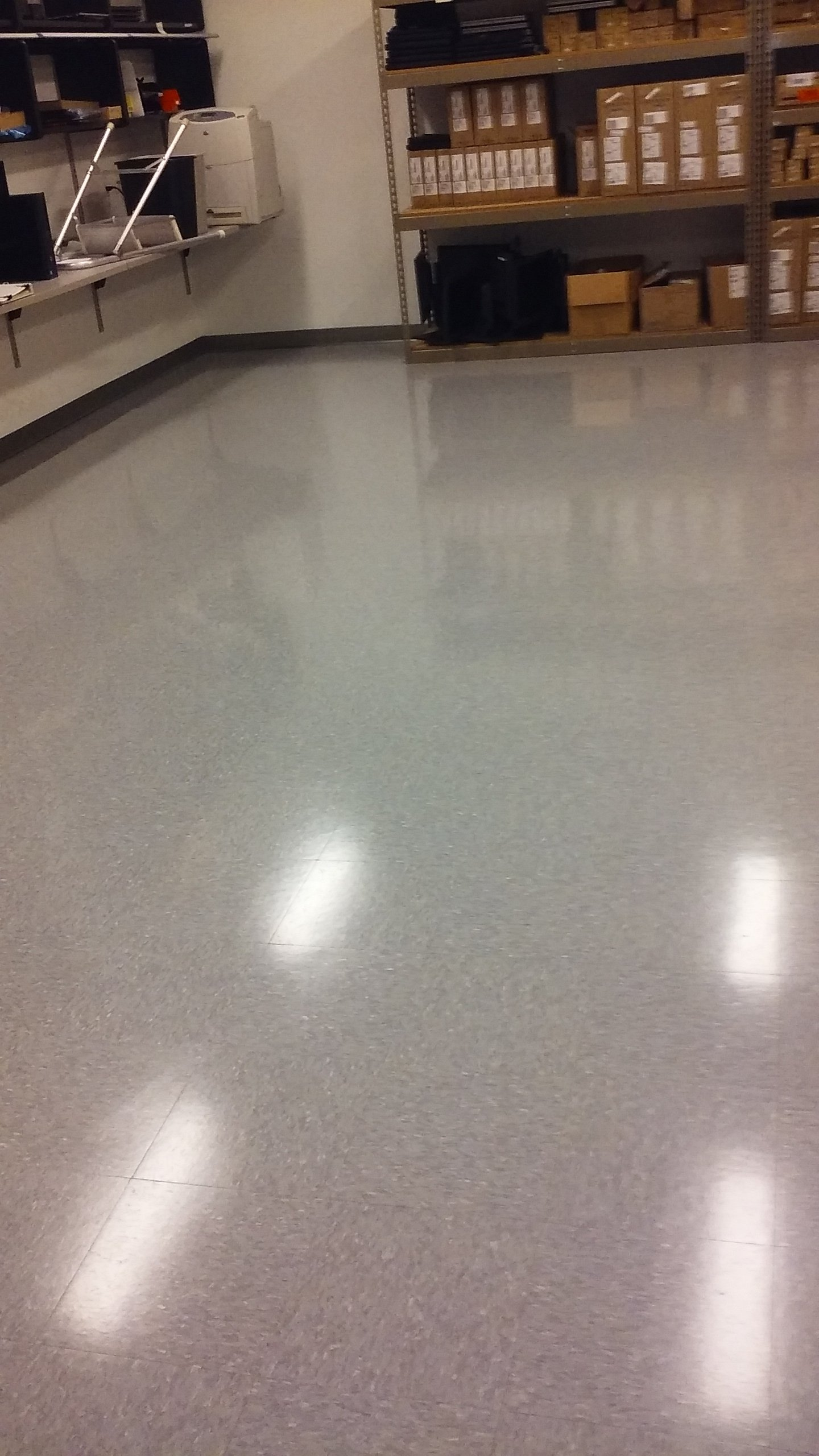 After flooring cleaning service
