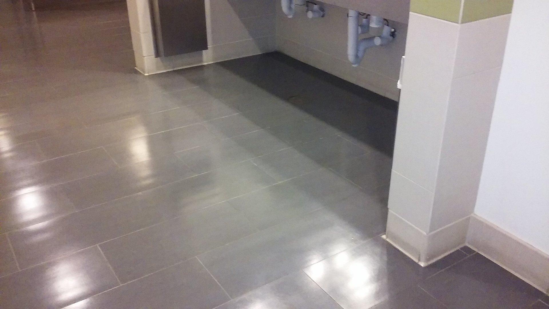 Floor cleaning work