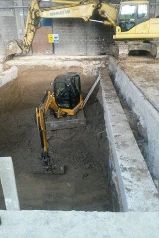 Opere di scavo.