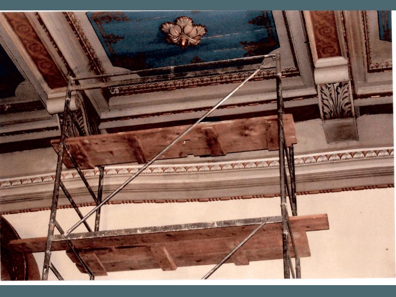 Fascia decorativa dopo il restauro