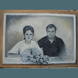 dipinto matrimonio, ritratto di matrimonio