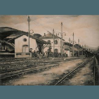pittura monocromatica, pittura di paesaggio