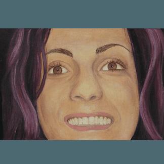 volto umano, viso di donna