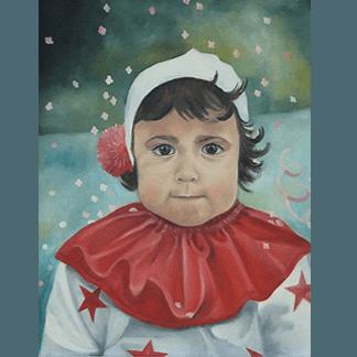 dipinto bambina, dipinto a colori