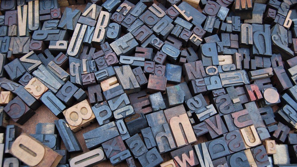 Various letterpress blocks