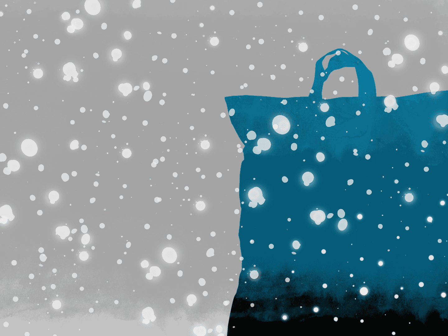 weather affect shopping habits bag snow