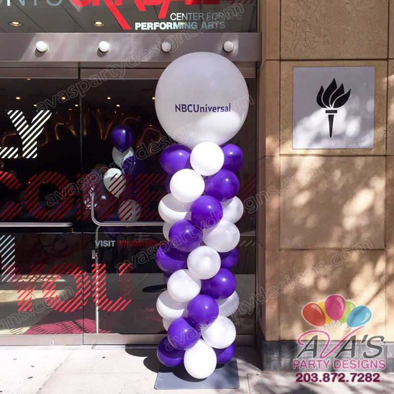 Balloon columns fairfield county ct ny for Balloon decoration for corporate events