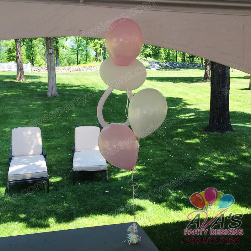 Baby Shower Balloon Centerpiece with pacifier, baby shower balloon decorations, balloon decor ideas for baby shower