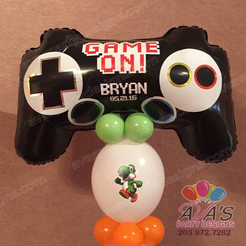 Mario Bros Balloon Decor ideas, game theme bar mitzvah, Mario Brothers balloon decoration,