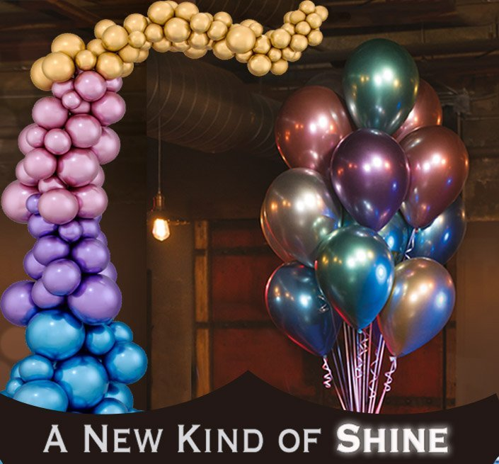 """Custom Home Bar Designs: Experience """"Solid Shine"""" With Chrome Balloons"""