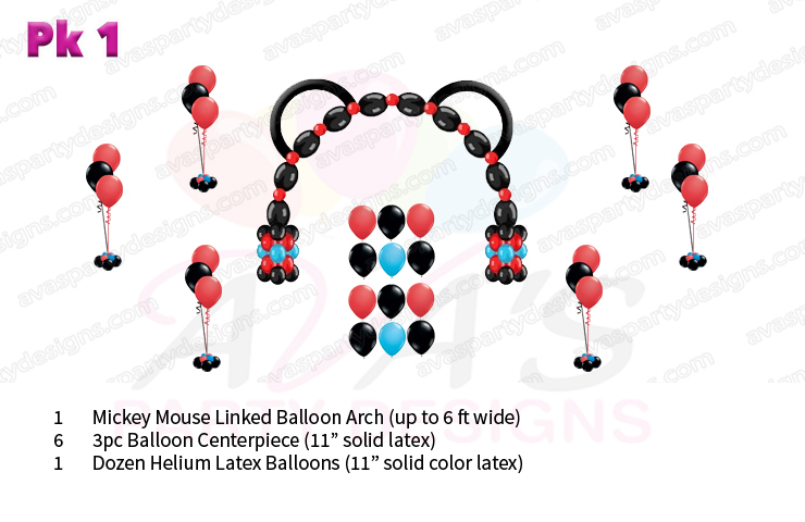 Mickey Mouse balloon decoration, balloon packages